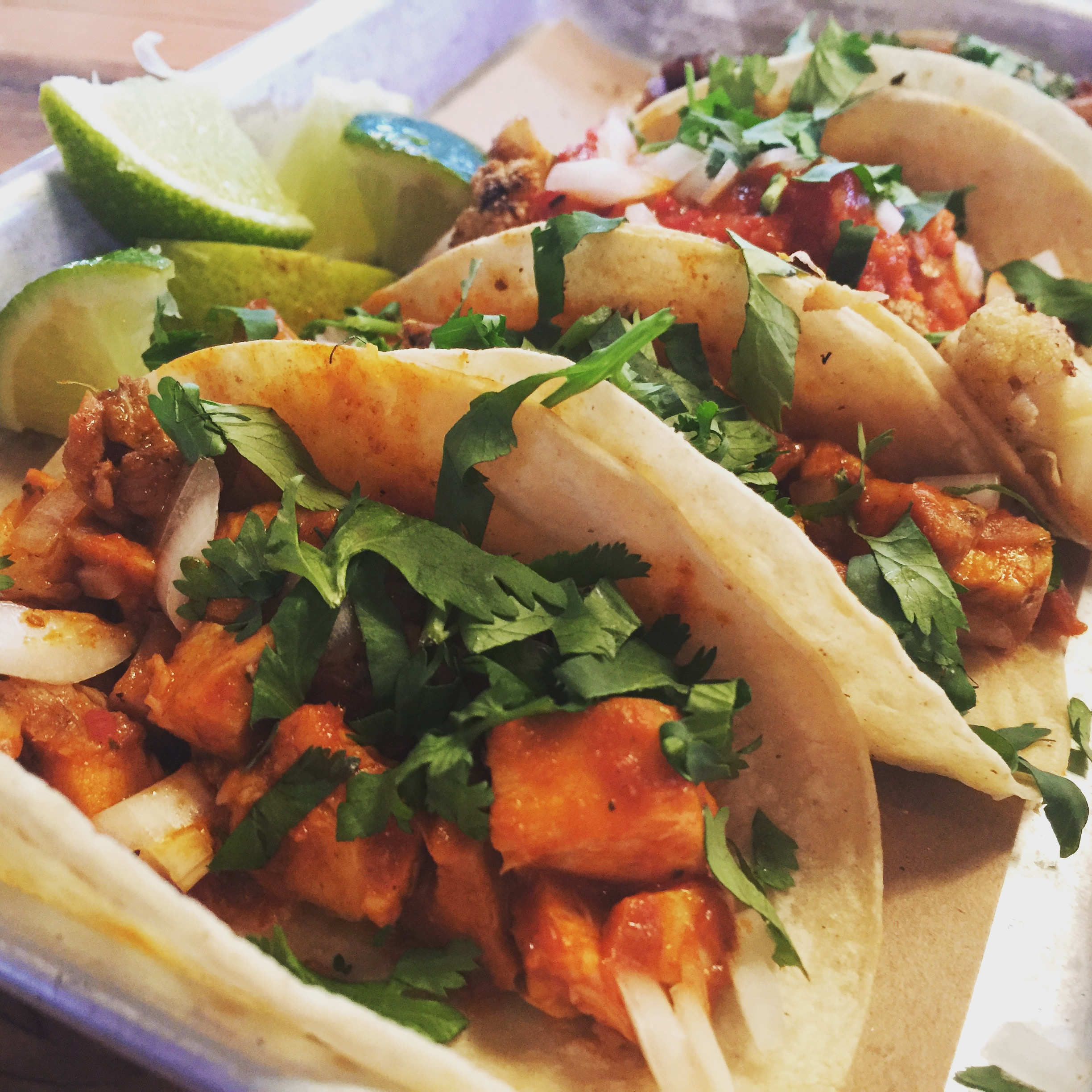 Scrumptious street tacos from BarTaco at 12 South. Photo by Melody Pittman.