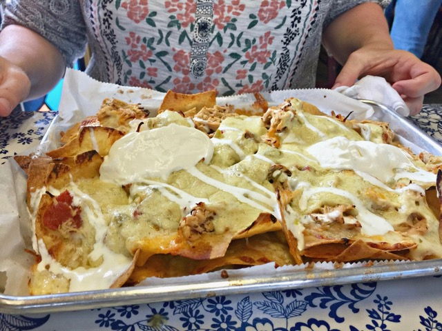 Chicken Nachos from Mi Cocina de Amor Restaurant on Charleston's West Side.    Photo by Melody Pittman.