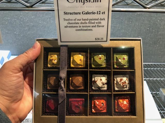 Handcrafted Structure Galerie chocolates from the Ghislain Collection include flavors like Pistachio Amarena and Vanilla Coconut. Photo by Melody Pittman..