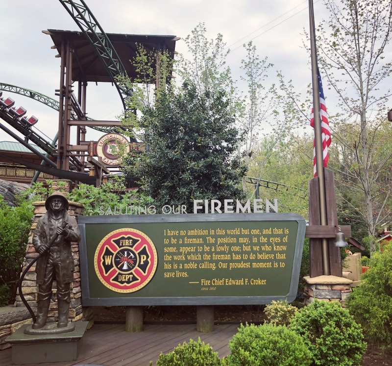 A lovely tribute to the firemen of Pigeon Forge at Dollywood. Dollywood was spared in the November 2016 fires of East TennesseeA lovely tribute to the firemen of Pigeon Forge at Dollywood. Dollywood was spared in the November 2016 fires of East Tennessee.