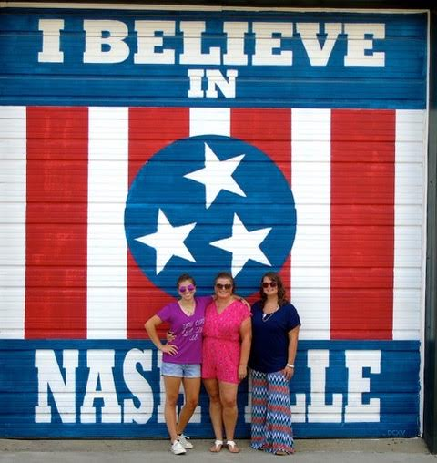 "One of the most popular murals in Nashville, ""I Believe in Nashville"" is found at 2702 12th Avenue South"