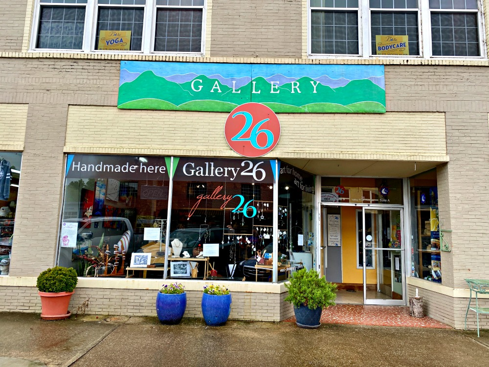 Art gallery in downtown Murphy