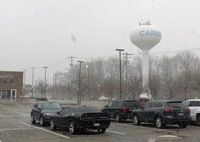 Snowy days look perfect on Carmel.